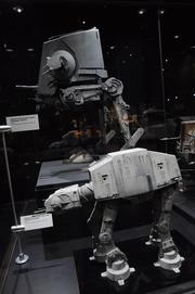 Models of the AT-AT and AT-STfrom Empire Strikes Back and Return of the Jedion display inStar Wars: Where Science Meets Imaginationat Orlando Science Center.