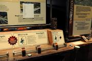 An interactive display shows visitors the components of transportation through magnetic levitationinStar Wars: Where Science Meets Imaginationat Orlando Science Center.