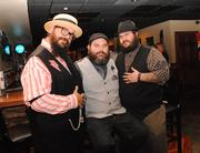 from left: Cake Marques, Michael McGrath and Jeffrey Pfaff of ... and The Three Bears assembled Musique and are planning more inspired art shows featuring local and international talent.