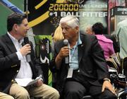 Pro golfing legend Lee Trevino takes part in a Q&A session.
