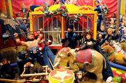 A whimsical circus, complete with animals and spectators, is a highlight of the museum at Ron's Miniatures.