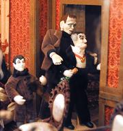 Eddie, Herman and Grandpa Munster are residents in the monster house.