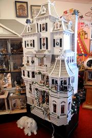 A five-story Victorian style house is one of the many creations on display in the museum at Ron's Miniatures.