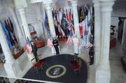 Guards from every division of the armed forces, flags and miniatures of various presidential items decorate the Presidential Museum.