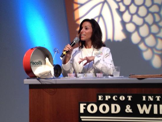 Health coach, writer and TV news correspondent Tina Ruggiero hosted half a dozen Authentic Taste seminars featuring Driscoll's berries during the Epcot International Food & Wine Festival's opening weekend.