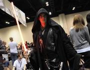 Travis Rushford of Los Angeles shows off his Anakin Skywalker costumeOrange County Convention Center during Star Wars Celebration 6.