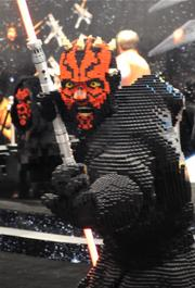 Lego paid homage to the Dark Side with a life size Darth Maul at their display on the Star Wars Celebration 6 exhibitor floor.