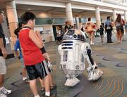 One of many remote controlled R2 units that roamed the halls during Star Wars Celebration 5.