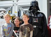 Fans of all ages took the chance for a photo op with the 501st Legion on the steps of Orlando City Hall.