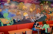 Murals depicting some of Springfield's finest moments adorn the dining areas.