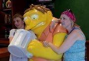 Barney mugs for some photos (bar humor)