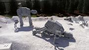A scene from one of the Star Wars films portrayed in the new Star Wars Miniland at Legoland Florida.