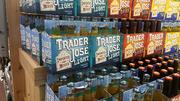 The store has a lot of fun with its private label products. For example, the Mexican items are labeled Trader Jose's.