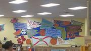 The decor inside Trader Joe's in Gainesville makes several nods to the University of Florida.