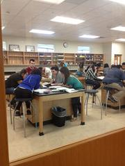 Science at work: Students using the science labs