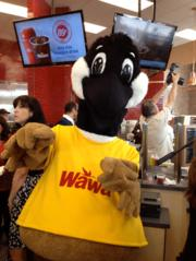 Wawa's mascot Wally Goose was on hand for the celebration at the first Wawa store in Florida.