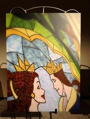 A mosaic that was on display at the media preview of the restaurant at the Contemporary Resort on Sept. 13.