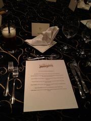 A place setting from the media preview of the restaurant at the Contemporary Resort on Sept. 13.