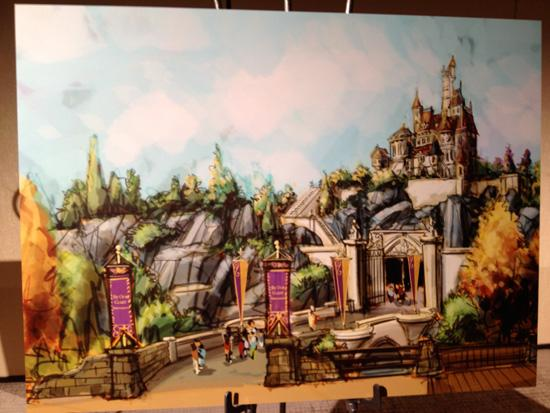 A rendering of the Beast's castle in Fantasyland. Disney Imagineer Chris Beatty says details in Beast's Castle were really hard to do.