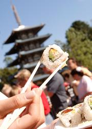 The Epcot Food & Wine Festival features lots of small tastings.