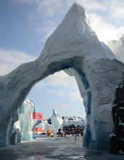 Glacier structures like this provide a sense of scale of the environment penguins experience every day.