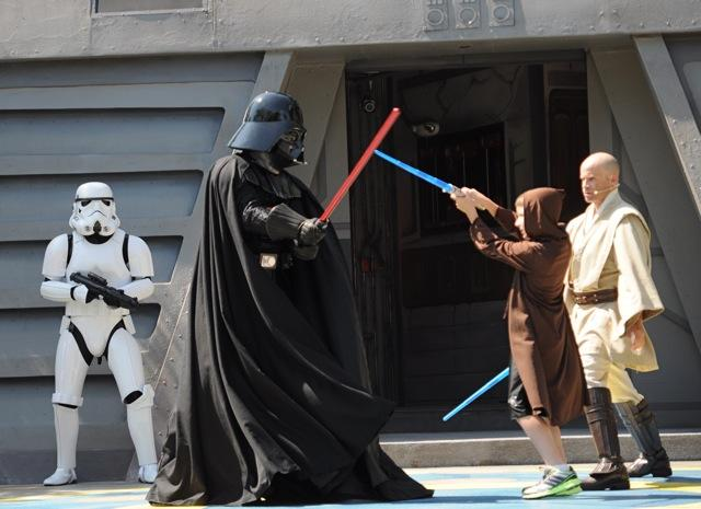 Aspiring Jedi Knights can square off against Darth Vader in the Jedi Training Academy at Disney's Hollywood Studios. A special edition of the attraction is scheduled for the May the Fourth events at the park.