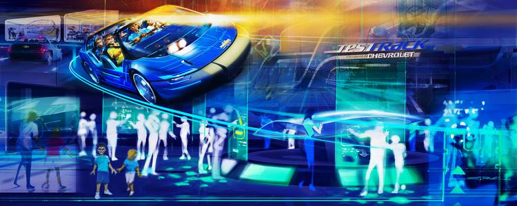 As part a renewed corporate alliance, General Motors will be actively involved with Walt Disney Imagineering in developing a re-imagined, design-centric Test Track experience.