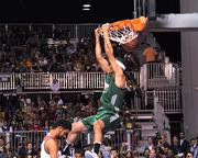 Kenny Dobbs makes one of the slam dunks that earned him victory in the Sprite Slam Dunk Showdown Championship at Orange County Convention Center on Friday.