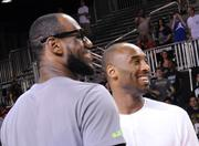 LeBron James and Kobe Bryant before a press event at Orange County Convention Center on Friday.