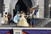 Belle and the Beast got a huge applause from the crowd.