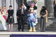 Disney Parks and Resorts Chairman Tom Staggs talks about Fantasyland with a popular mouse.
