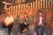 From left to right: Magic Kingdom Vice President Phil Holmes; Maribeth Bisienere, Walt Disney Parks and Resorts vice president of food & beverage and merchandise operations integration; and Disney Imagineer and Fantasyland Creative Director Chris Beatty chat at The Story Behind New Fantasyland panel.