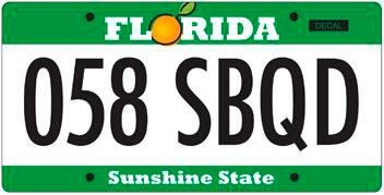 This license plate was the most popular choice by Floridians who participated in the online poll.
