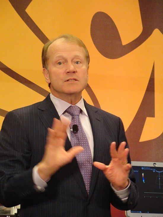 "Cisco's John Chambers hails ""record results."""