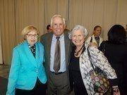 Orange County Property Appraiser Bill Donegan and former Orange County Mayor Linda Chapin (right) celebrate Donegan's award.