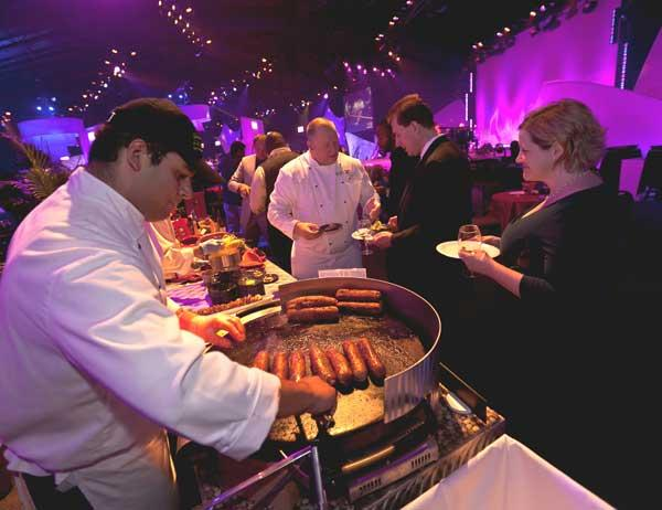 Chef Al Youngman from Le Cellier Steakhouse at Epcot prepares a dish the restaurant served at Chef's Gala.