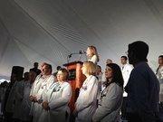 Marla Silliman, senior vice president of Florida Hospital, also spoke at the groundbreaking event.