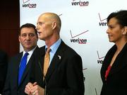 Gov. Rick Scott announced that Verizon Communications will initially create 300 jobs by the fourth quarter of 2014 and a total of 750 jobs by 2016.