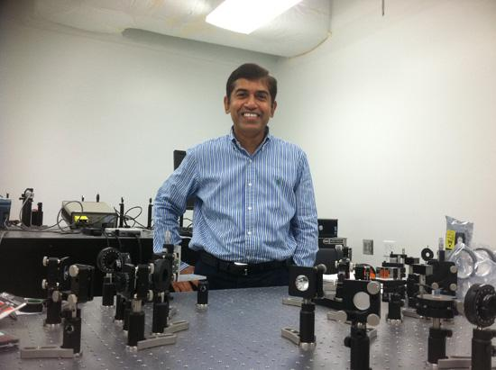 University of Central Florida Professor Jayan Thomas has developed a material that could diffuse a high-energy laser.