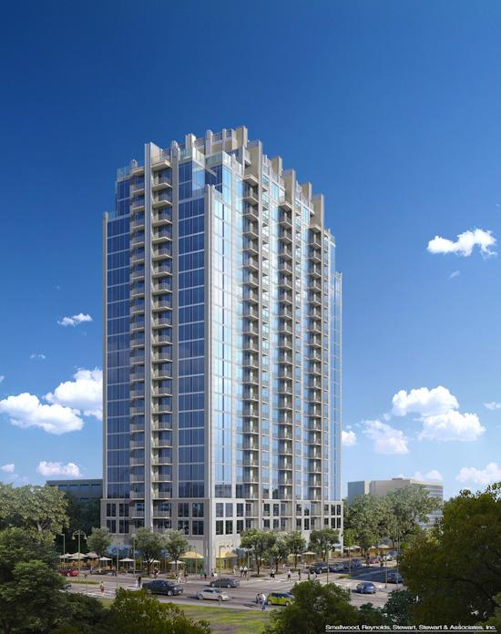 Two Atlanta firms and an Orlando firm plan to break ground this week on the $63 million, 23-story, 320-unit apartment complex, dubbed SkyHouse, near the Orange County Courthouse.