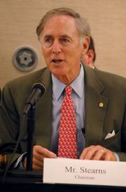 U.S. Rep. Cliff Stearns, R-Ocala, delivers opening remarks at the hearing.