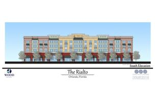 The Rialto office/retail complex will be on a 6-acre site at the northwest corner of Sand Lake and Turkey Lake roads.
