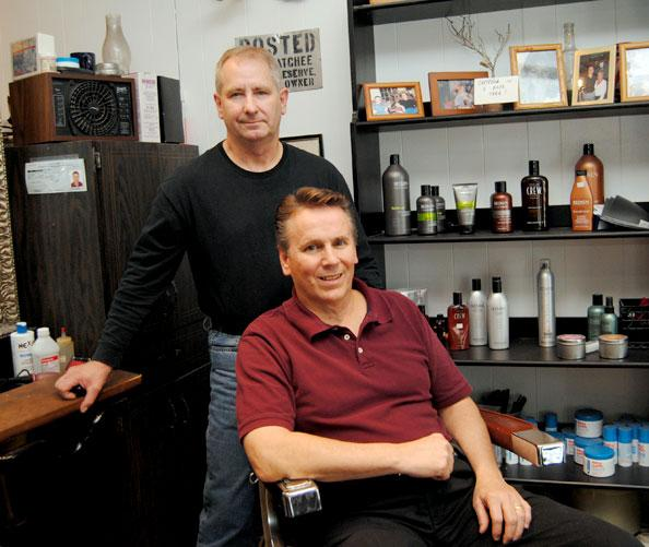 Richard and Darrell Wilson of Wilson's Barbershop