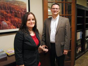 Moss, Krusick & Associates' Stephanie Watkins and Ed Moss