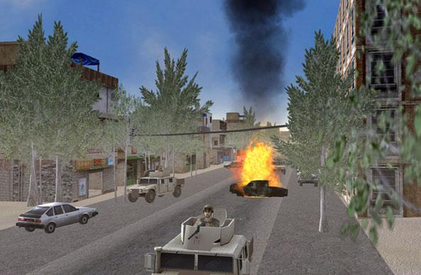 Virtual image of Kabul, developed by Orlando-based CAE USA engineers to help train U.S. soldiers