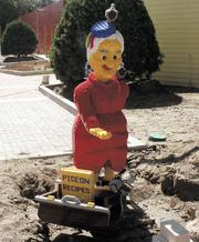 One of the many Lego-built statues that will provide photo opportunities for guests.