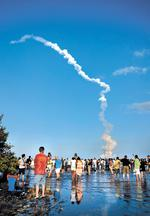 Final shuttle launches create  short-term boon in dark times  for space industry