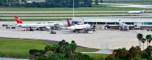 Airport travel remained flat for April at Orlando International Airport.
