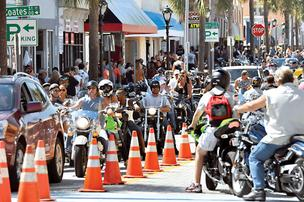 Daytona Beach's annual Biketoberfest draws 100,000-plus attendees.