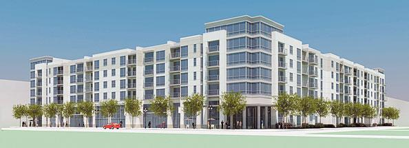 Rendering of 899 North Orange apartment project